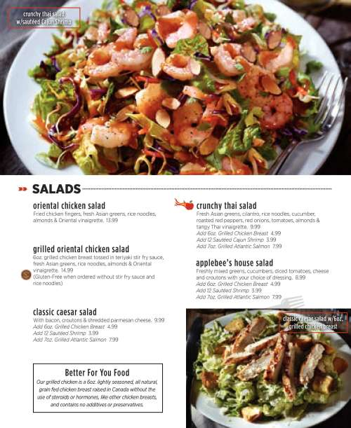 Medium Of Applebees Gluten Free Menu