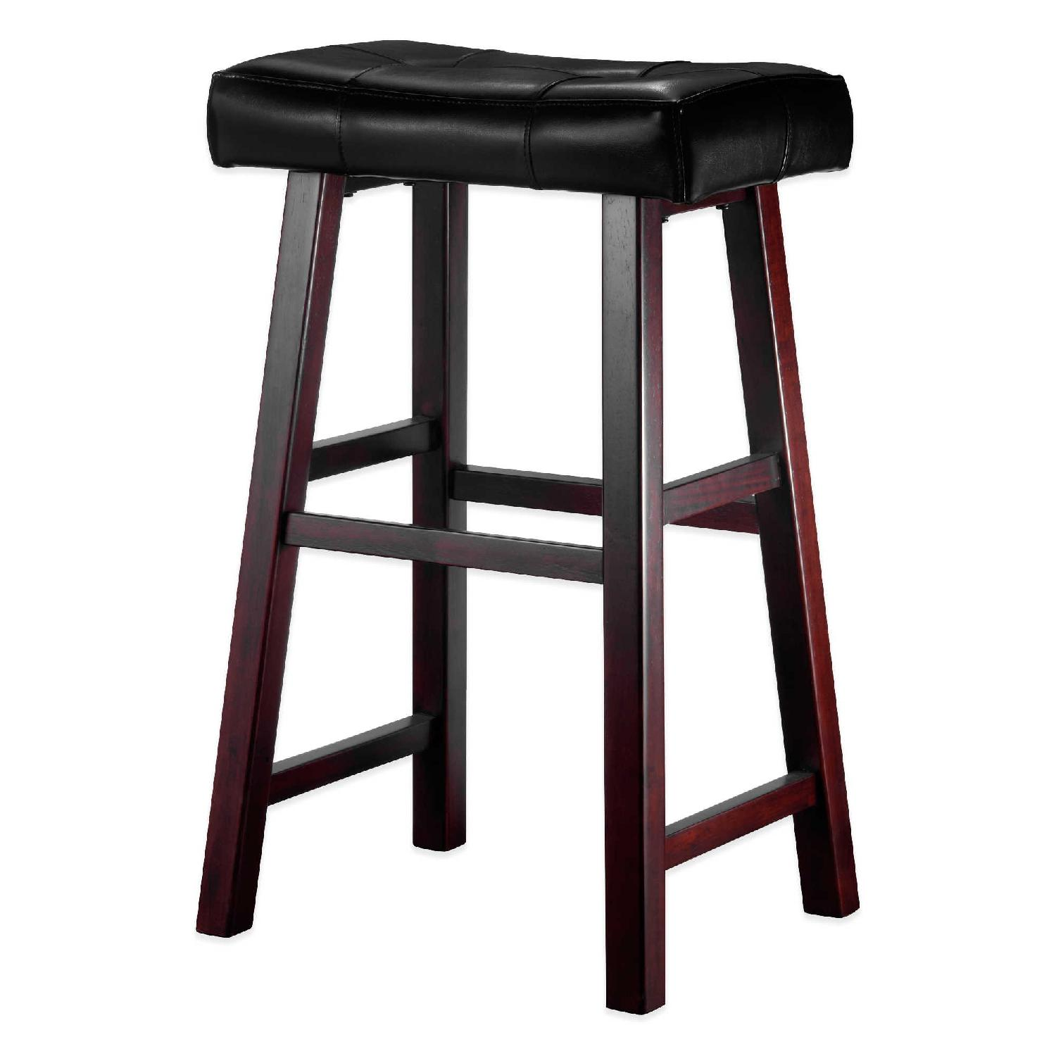 Padded Stool Ampersand Padded Saddle Stool In Brown Aptdeco
