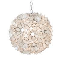 Worlds Away Venus Hanging Capiz Shell Pendant Lamp - AptDeco