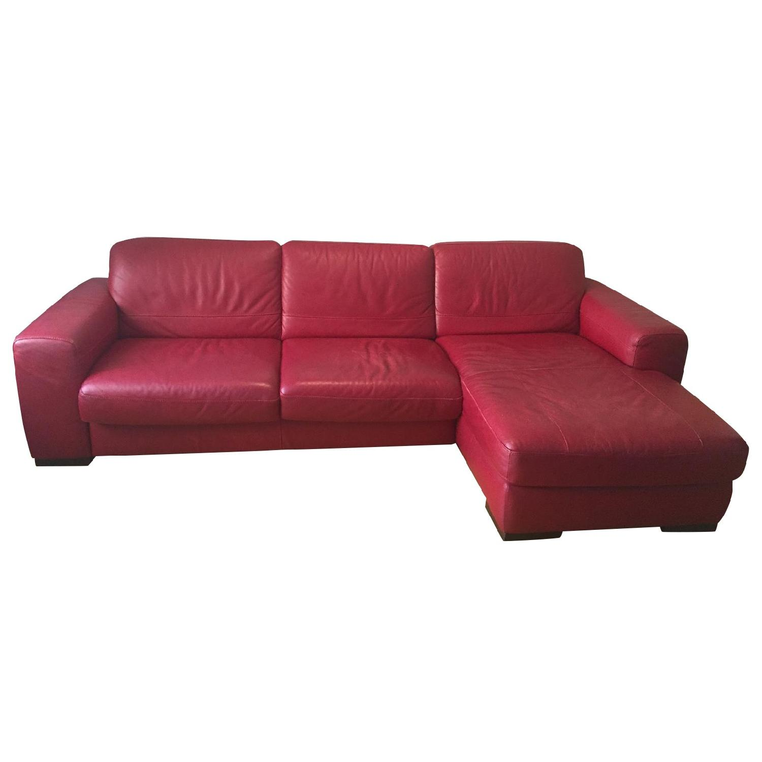 Macy S Red Leather Sleeper Sectional Sofa Aptdeco