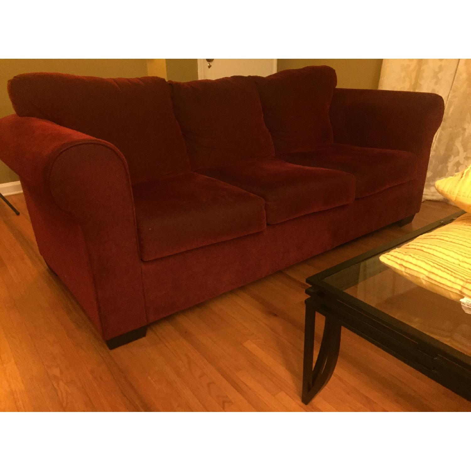 Piedmont Furniture Lydia Deep Red 3 Seater Sofa Aptdeco - Lydia 2 Seater Sofa