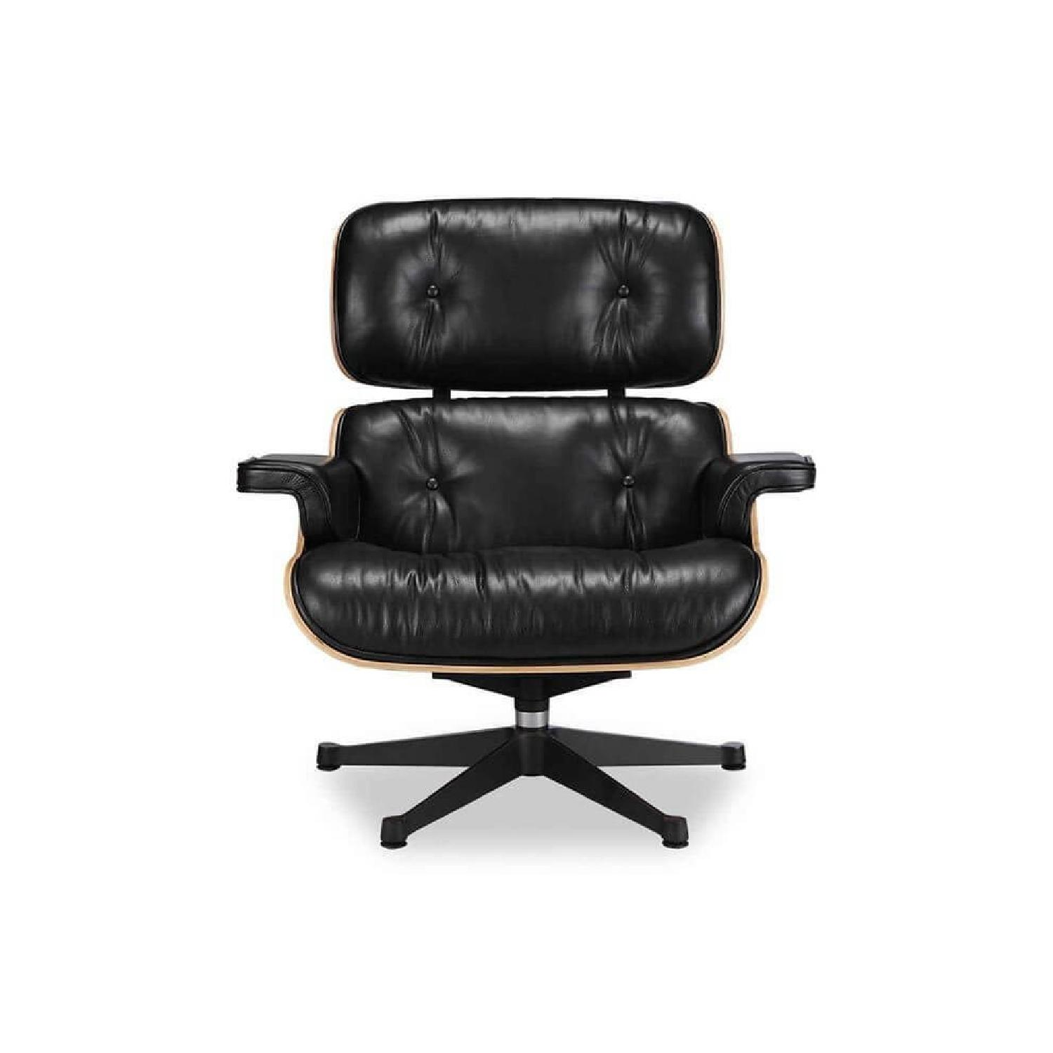 Vitra Eames Lounge Chair Black Eames Lounge Chair Replica Ottoman In Black