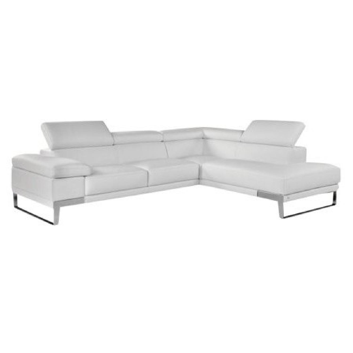 White Leather Couch Nicoletti Domus White Leather Sectional Sofa