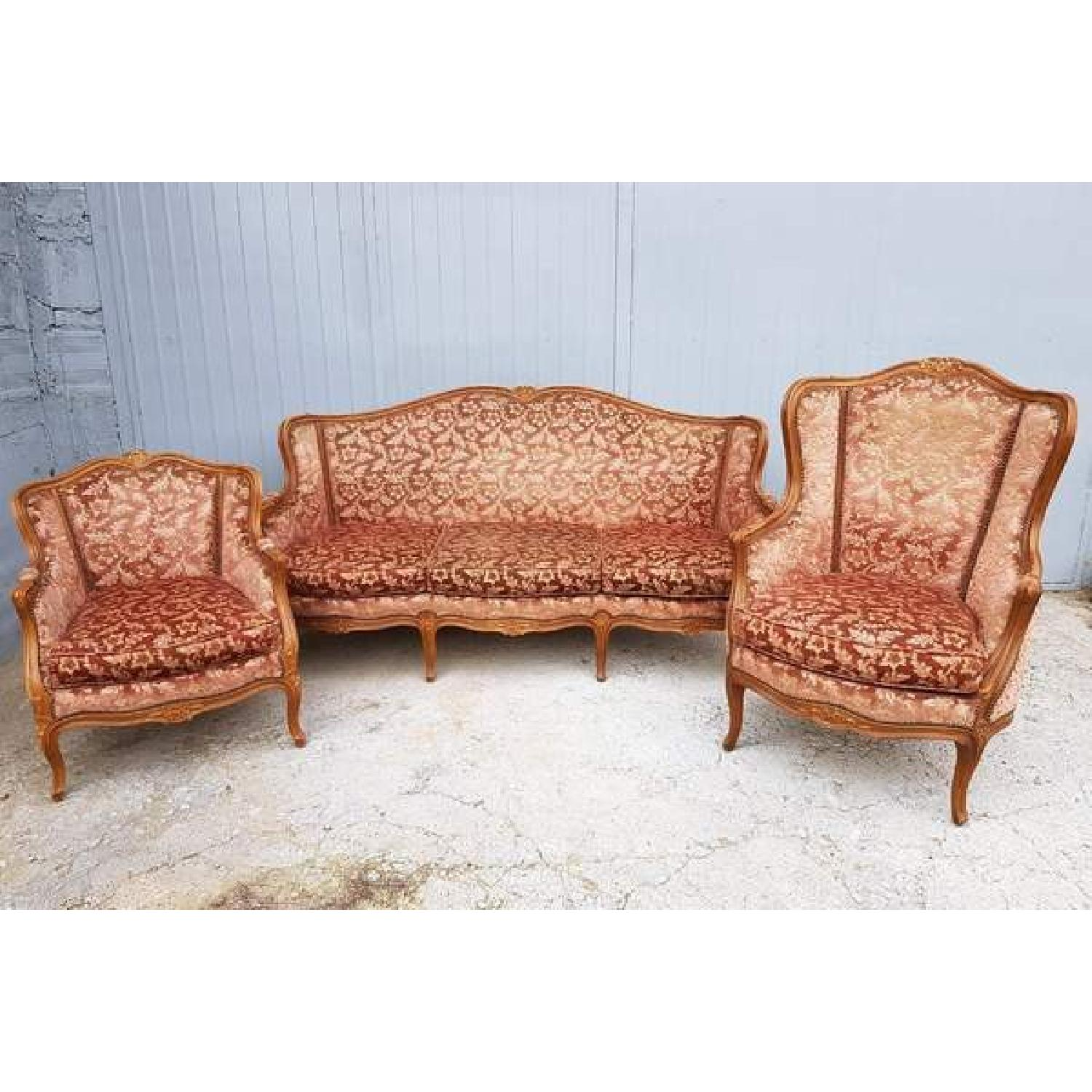 Canape Sofa Antique Louis Xv Style Carved Parlor Canape Sofa 2 Chairs