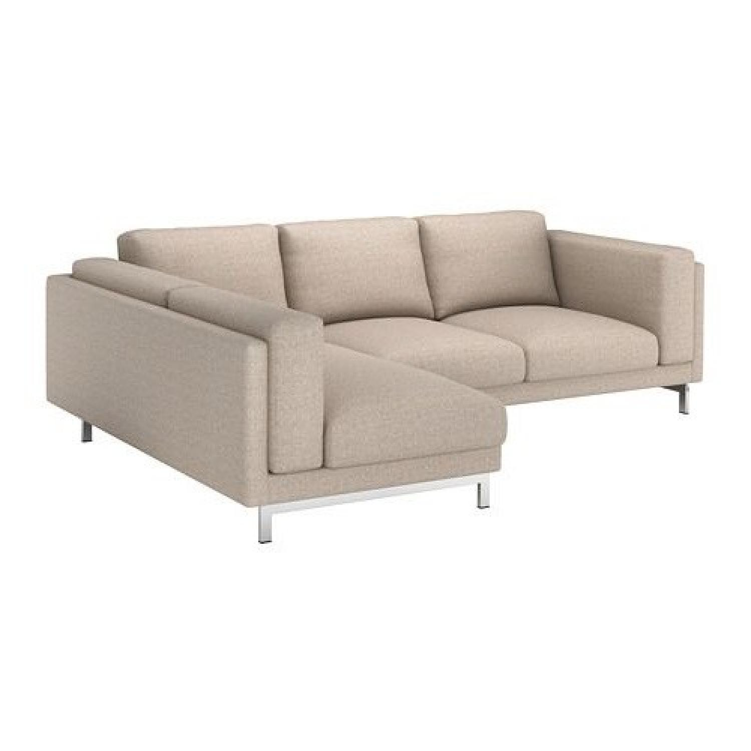 Bettsofa Ikea Ikea Nockeby Sectional Sofa W Left Chaise