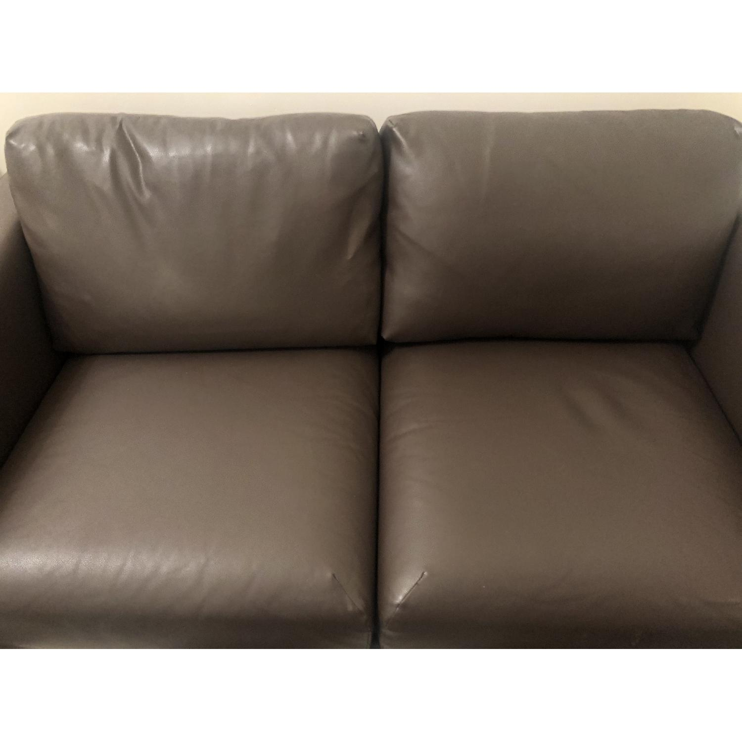 Ikea Loveseat Ikea Dark Brown Leather Loveseat