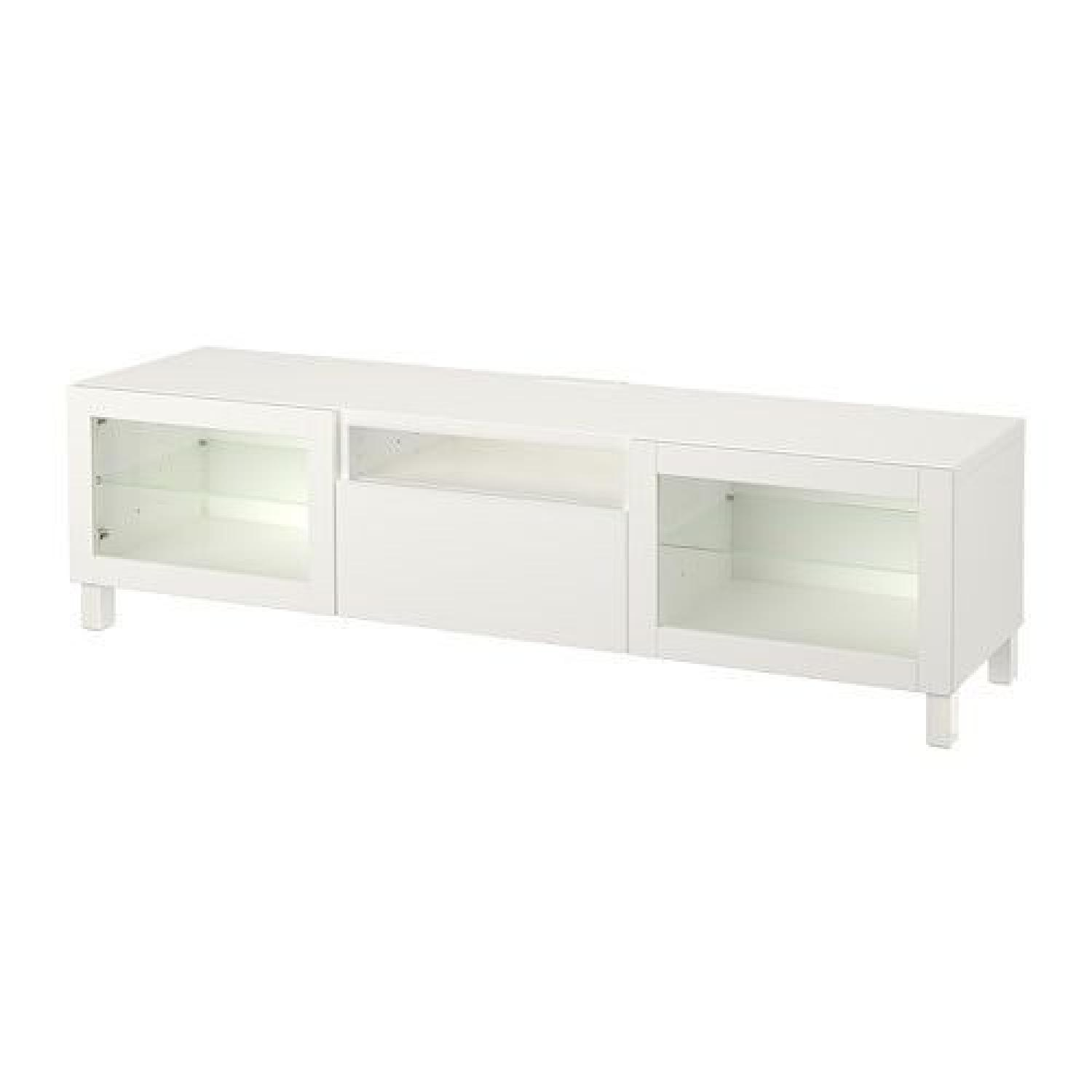 Besta Tv Ikea Besta Tv Unit In High Gloss White