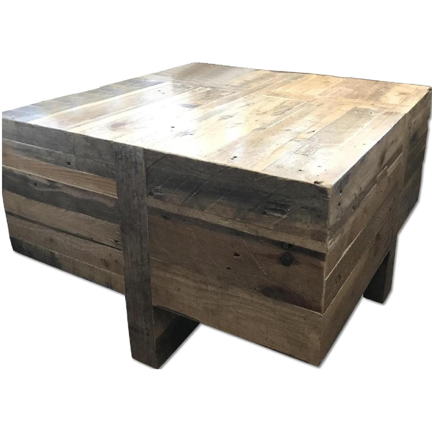 Wood Block End Tables West Elm Reclaimed Wood Block Side Coffee Table Aptdeco