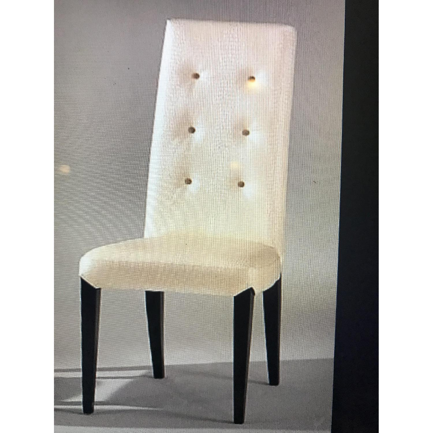 Leather Dining Room Chairs Ivory Leather Crooco Pearl Embossed Dining Chair