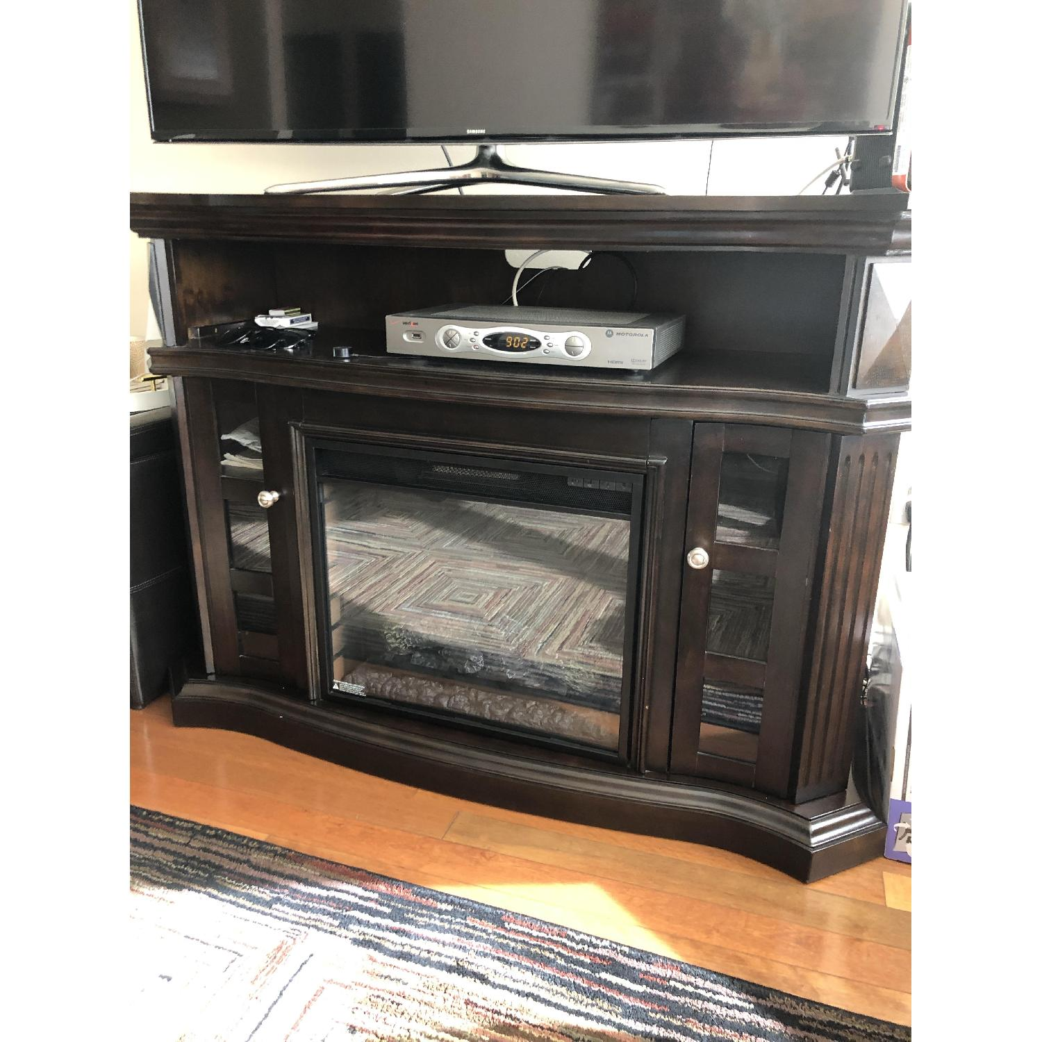 Bobs Fireplace Bob S Tv Stand W Electric Fireplace