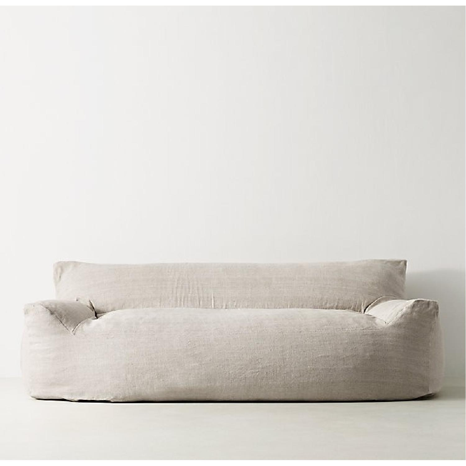 Restoration Hardware Berlin Lounge Linen Sofa Aptdeco