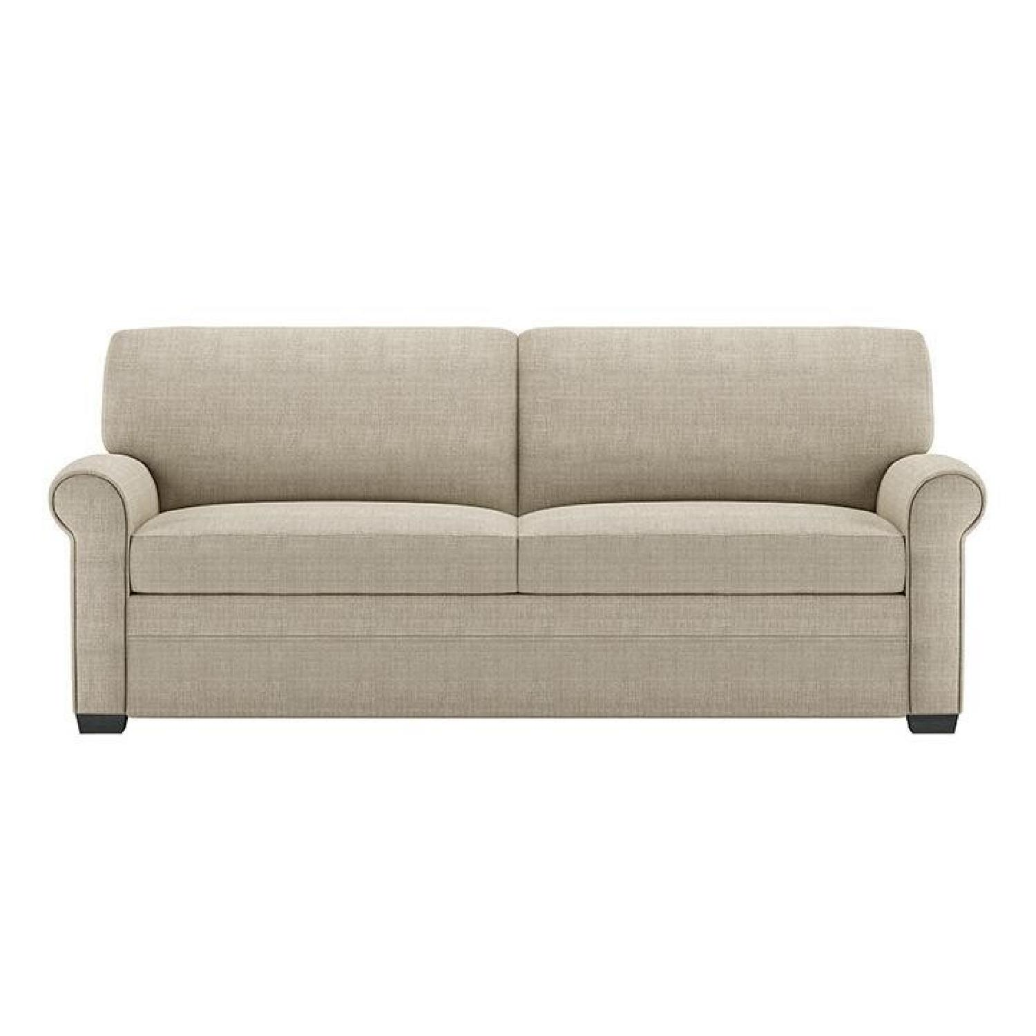 American Sofa Images American Leather Gaines Queen Tempur Pedic Sleeper Sofa