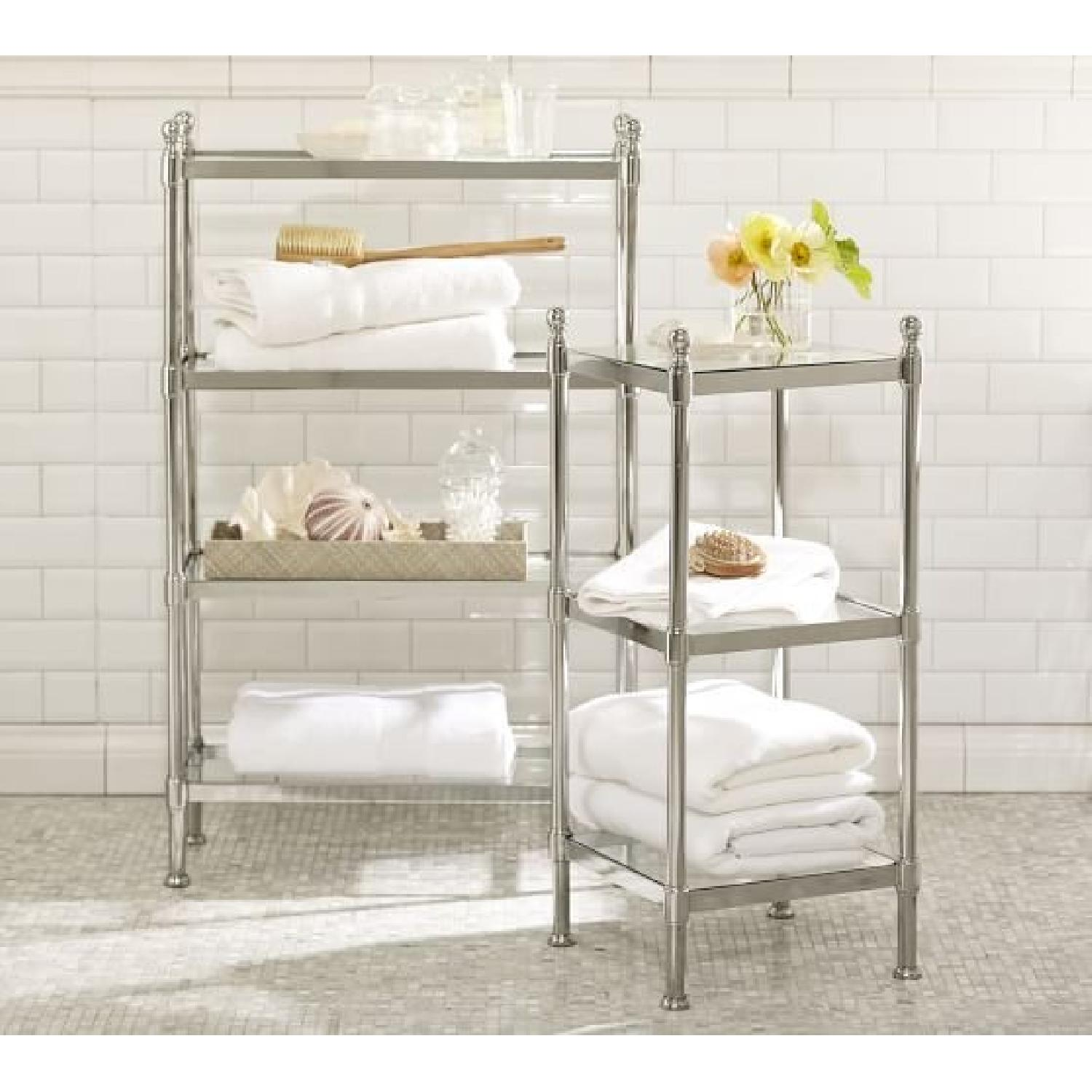 Etagere Metal Pottery Barn Large Metal Etagere In Polished Nickel Finish