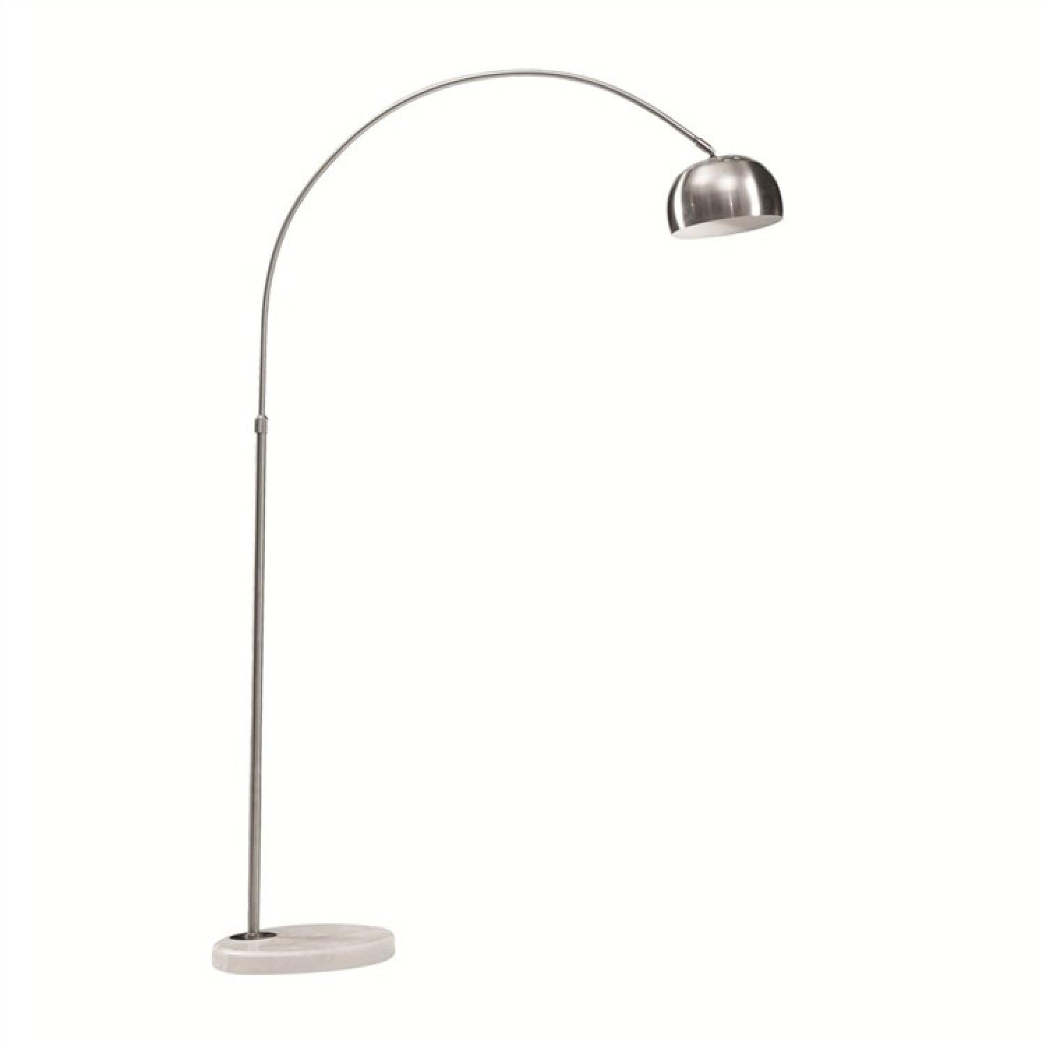Ultra Modern Floor Lamp Modern Arch Lamp W Polished Stainless Steel Body And Aptdeco