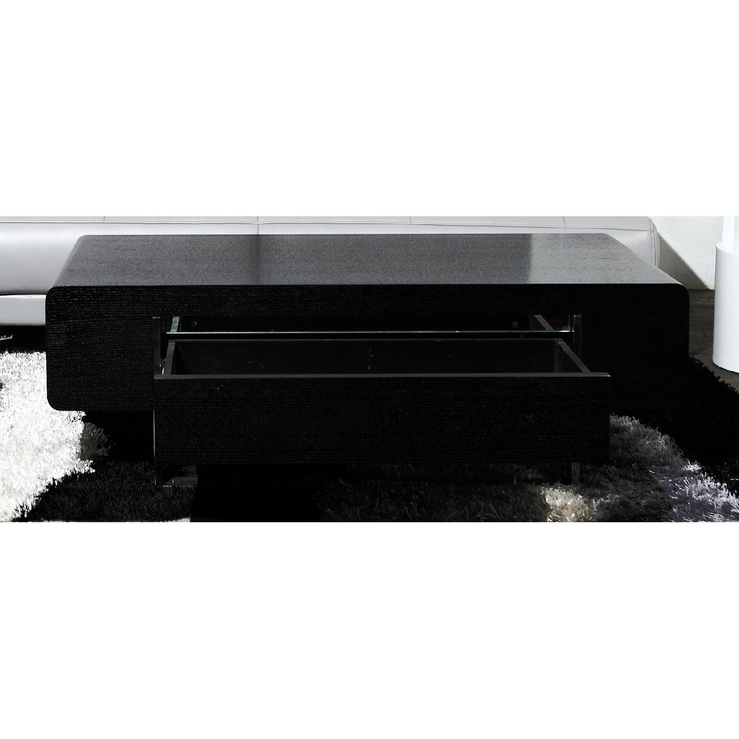 Modern Coffee Table With Storage Modern Coffee Table In Matte Black Finish W Storage Drawer
