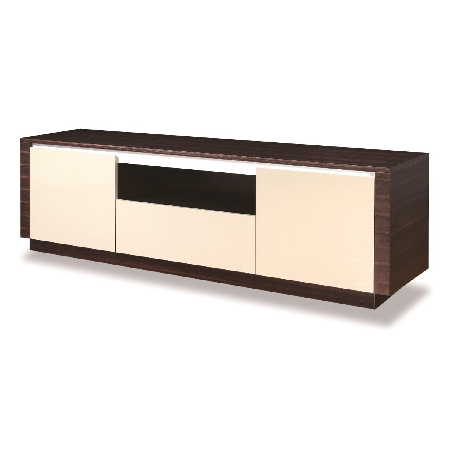 Tv Sideboard Modern Modern Style Tv Sideboard In 2 Tone Wenge Grey Gloss Finis
