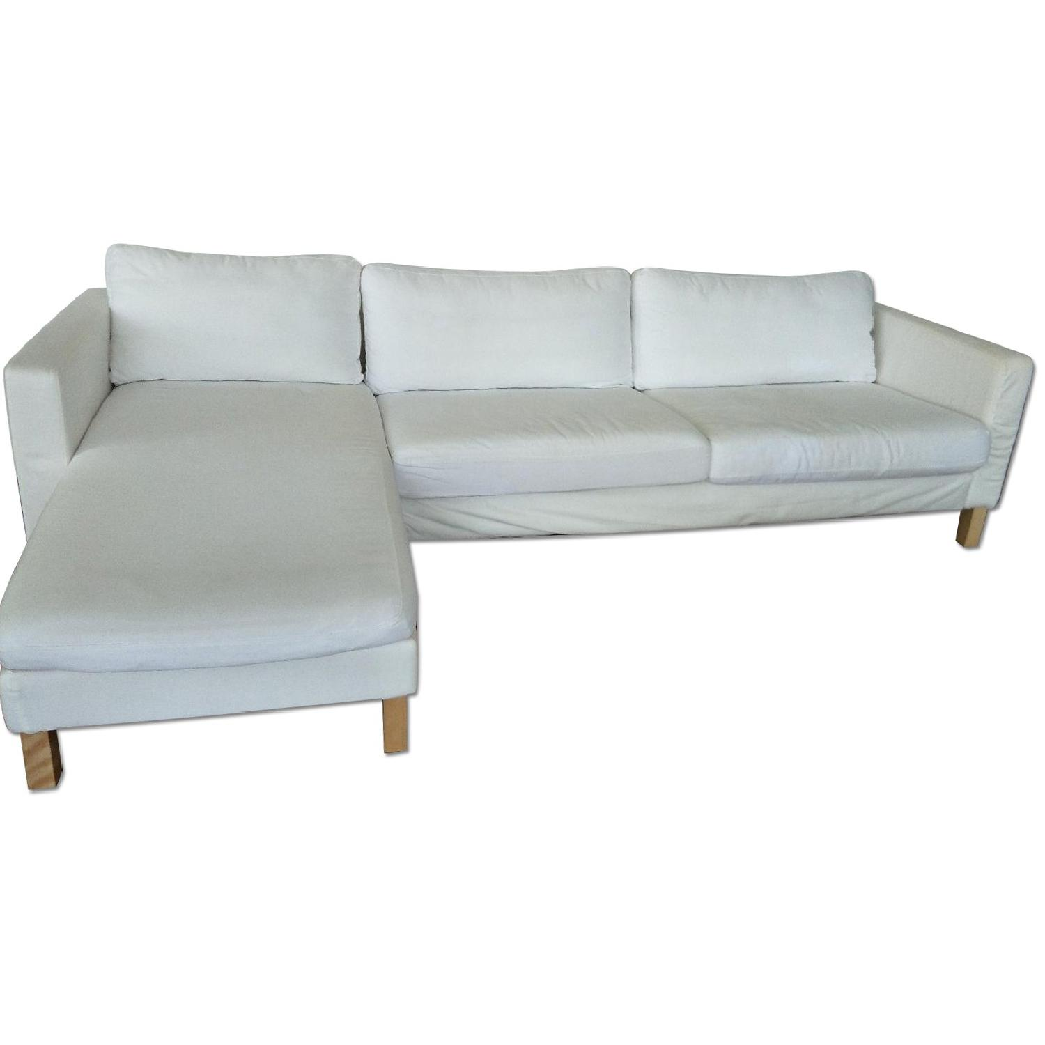 Ikea Les Chaises Ikea Karlstad Sectional Sofa W Chaise Lounge