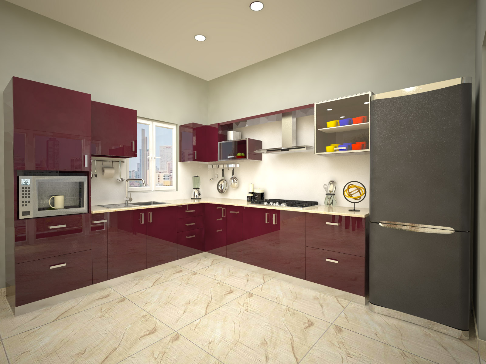 Modular Kitchen Design For L Shape Homelane Munnar L Shaped Modular Kitchen Autentic Wenge