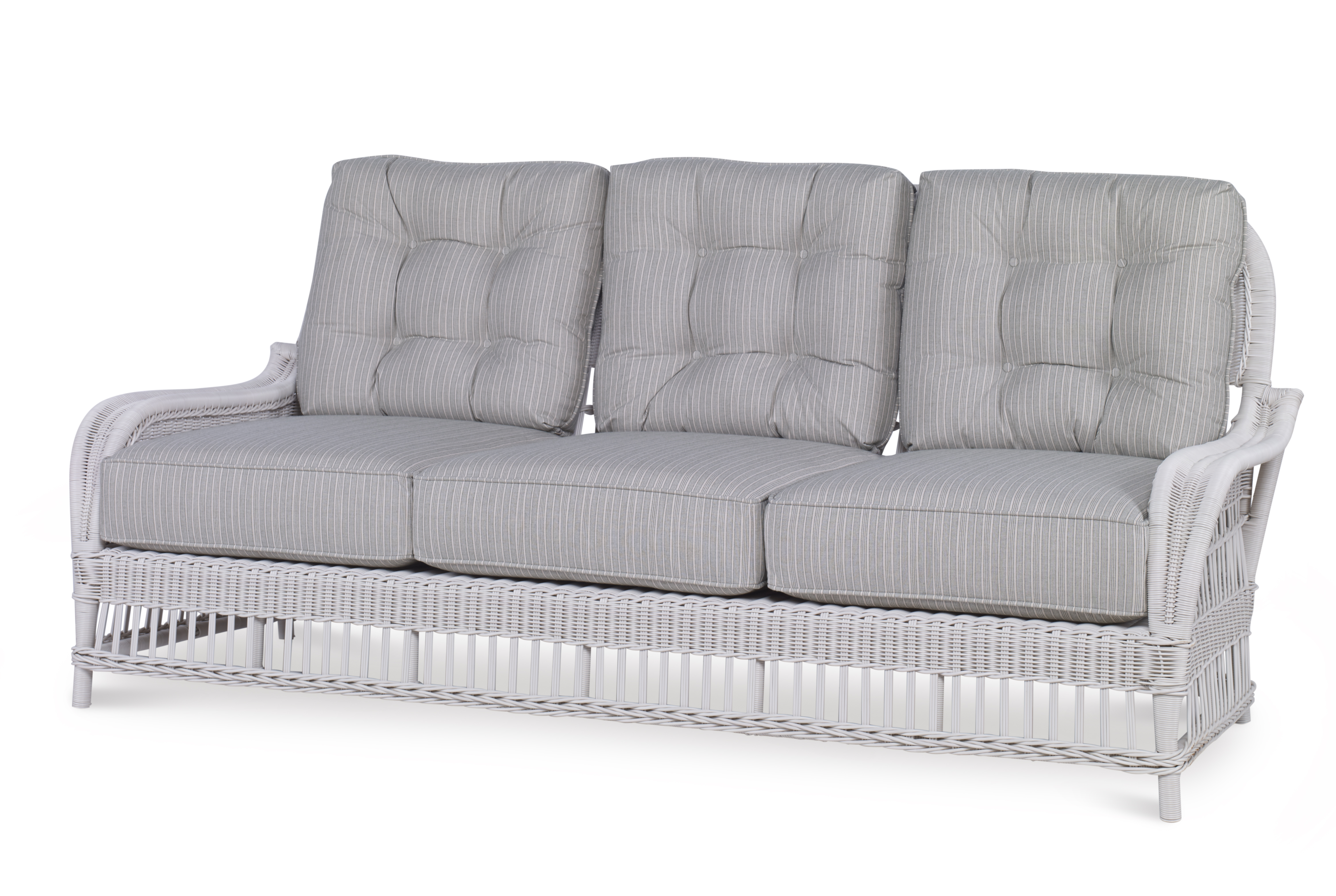 Open Weave Rattan Sofa Mid Century Patio Picks Furniture Lighting And Decor