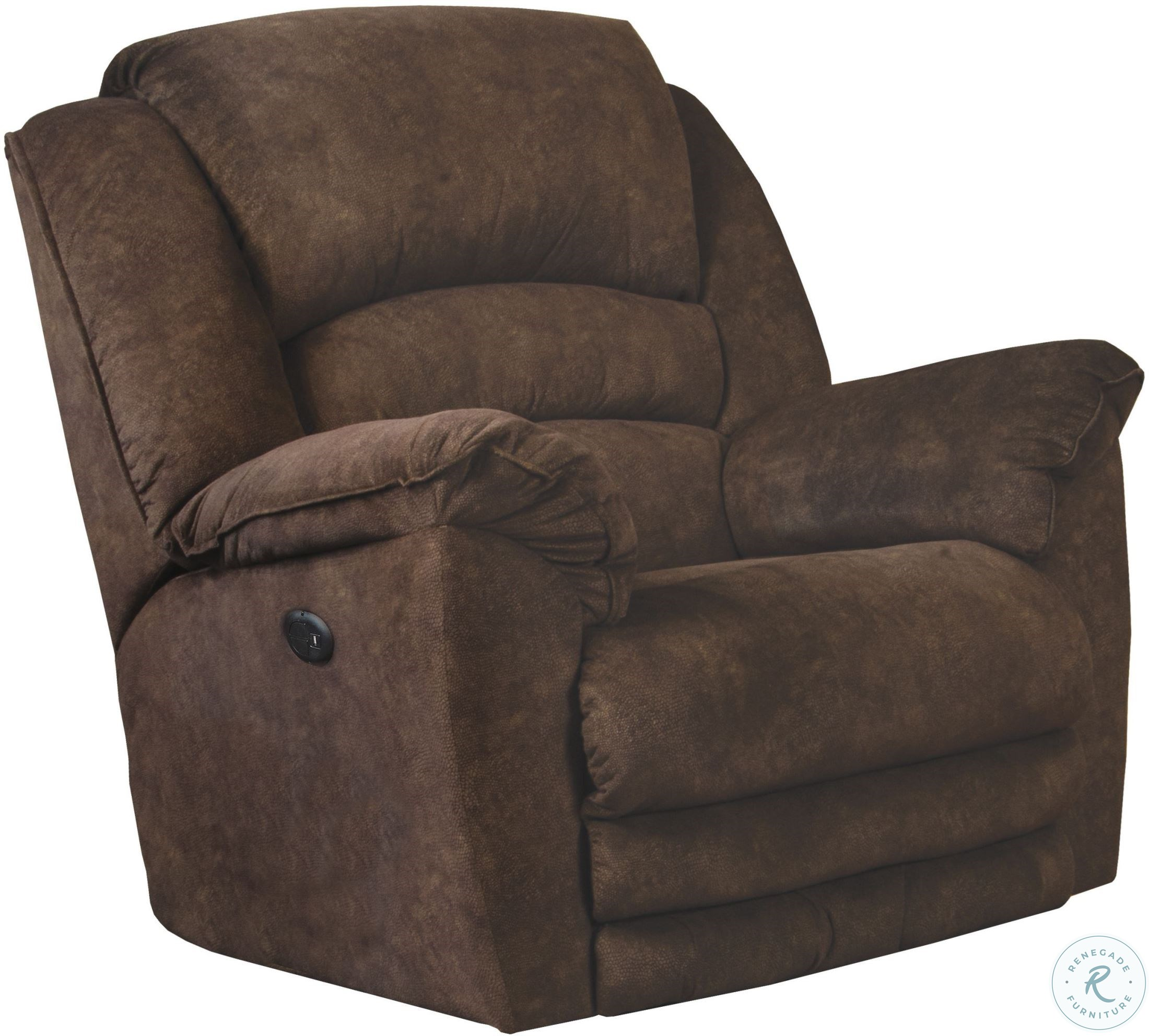 Ludden Cocoa Power Rocker Recliner From Ashley 8110498 Coleman Furniture