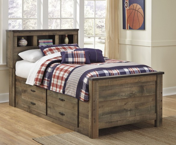 Trinell Brown Full Bookcase Storage Bed From Ashley