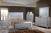 Valentino Silver Panel Bedroom Set from New Classic ...
