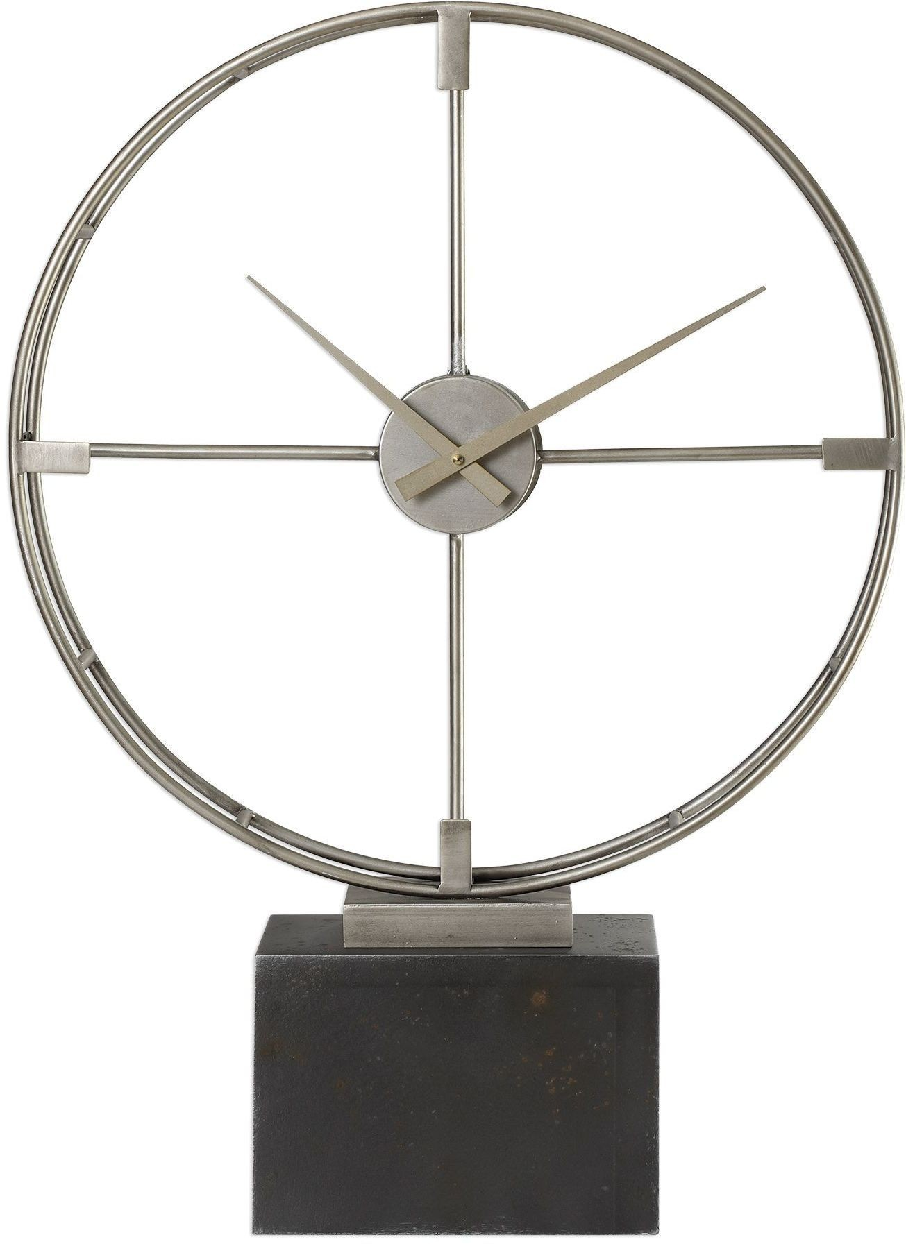 Table Clock Modern Janya Contemporary Table Clock From Uttermost Coleman
