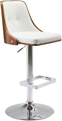 Scooter White Bar Chair Set of 2 from Zuo | Coleman Furniture