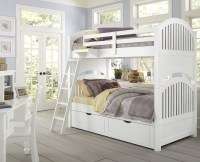 Lake House White Adrain Youth Bunk Bedroom Set With ...