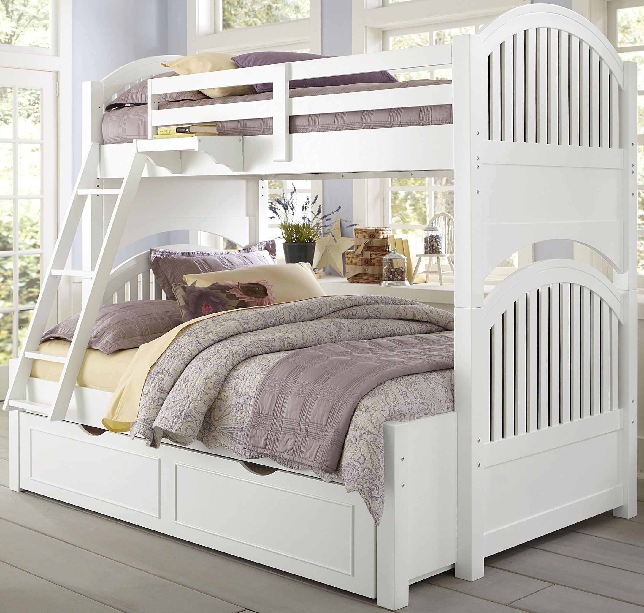 White Trundle Bed Lake House White Adrian Twin Over Full Bunk Bed With