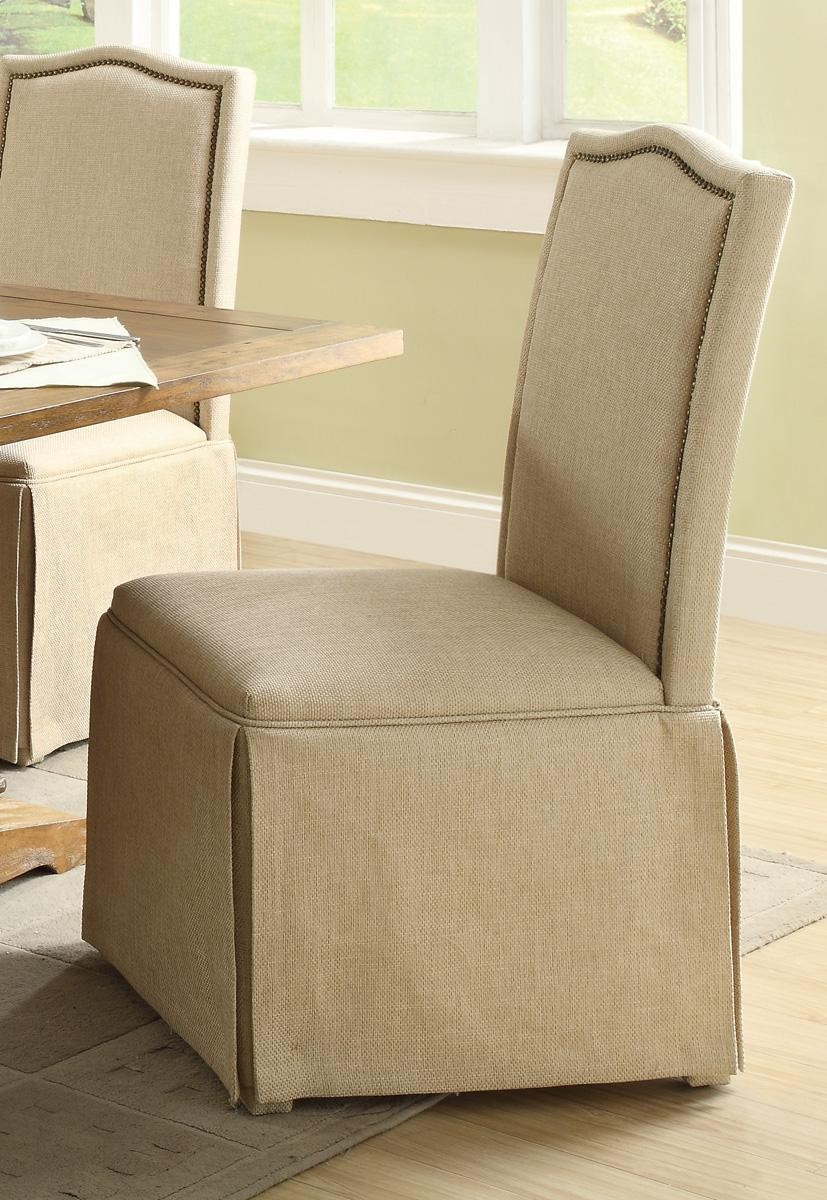 Parkins Ivory Parson Chair With Skirt Set Of 2 From