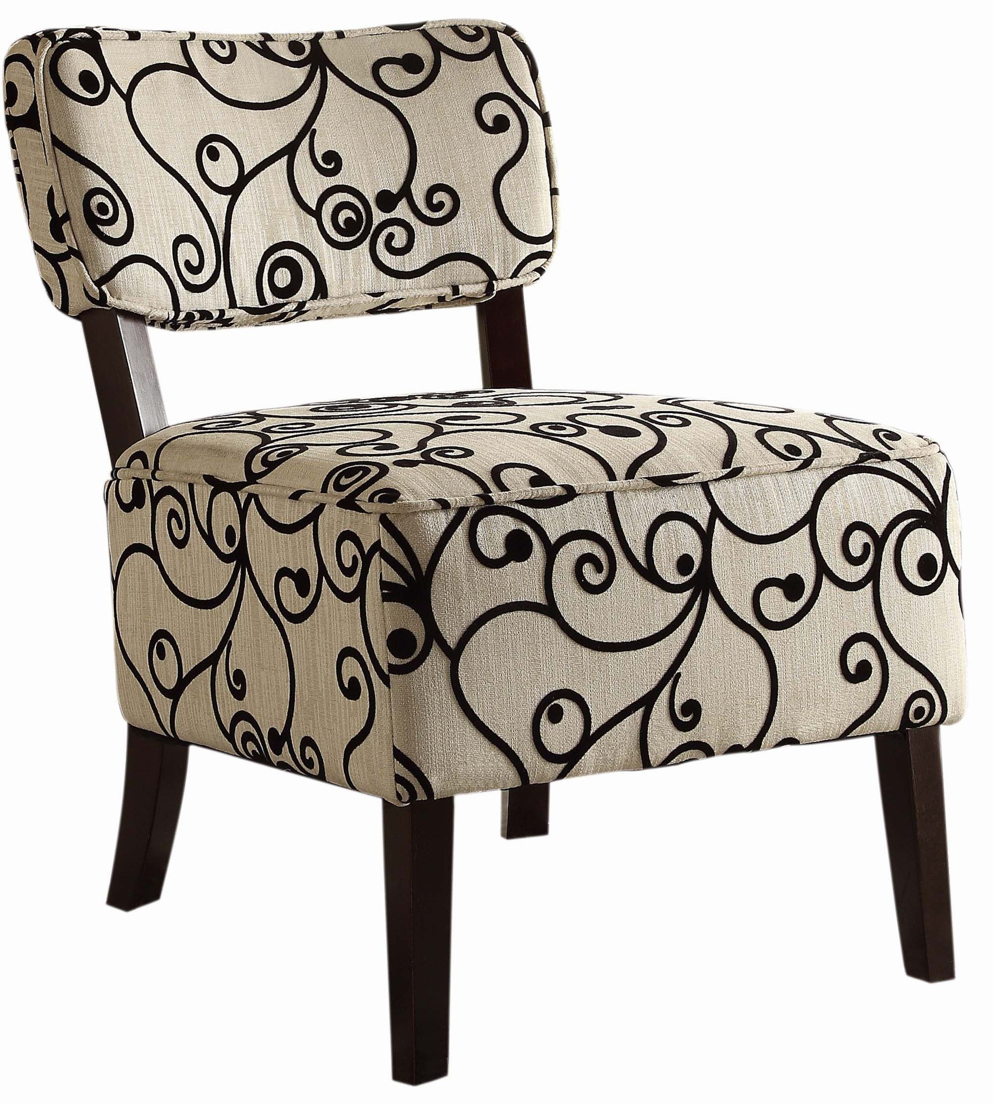 Black And White Accent Chair Orson Black And White Accent Chair