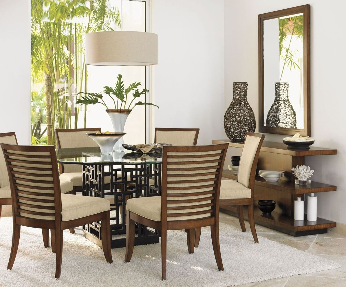 Dining Room Furniture Glass Ocean Club 54 Quot South Seas Round Glass Dining Room Set From
