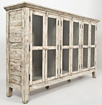 "Rustic Shores Scrimshaw 70"" Accent Cabinet from Jofran"