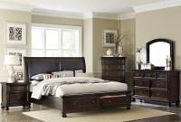Faust Dark Cherry Storage Platform Bedroom Set from ...