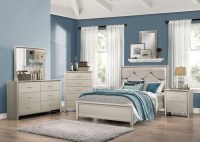 Lana Silver Panel Bedroom Set from Coaster | Coleman Furniture