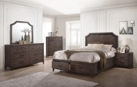 Richmond Dark Gray Oak Storage Panel Bedroom Set from ...