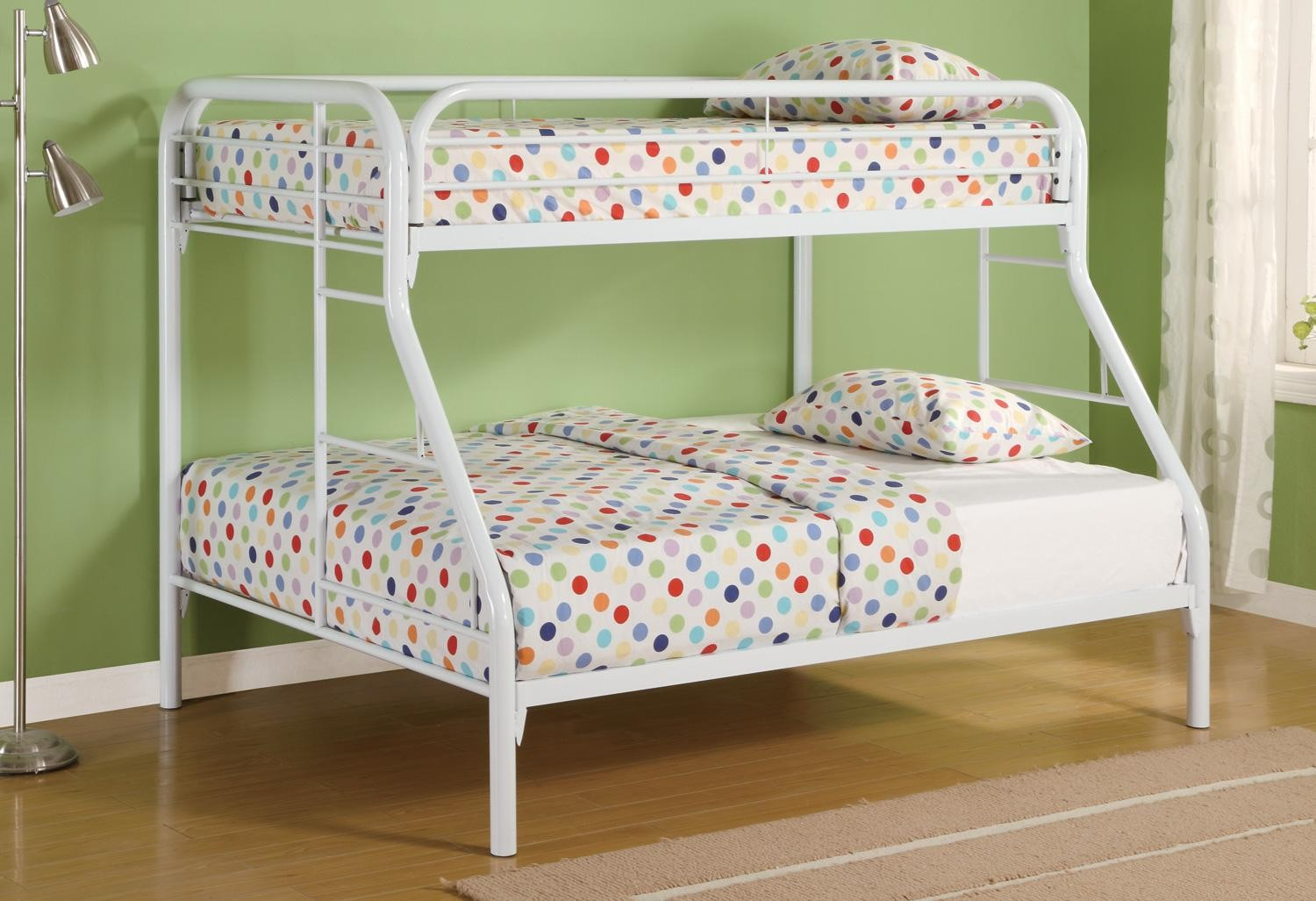Fordham White Twin Over Full Bunk Bed From Coaster 2258w