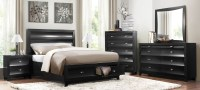 Zandra Black Platform Storage Bedroom Set from Homelegance