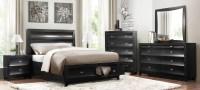Zandra Black Platform Storage Bedroom Set from Homelegance ...