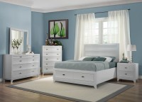 Zandra White Platform Storage Bedroom Set from Homelegance