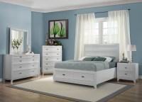 Zandra White Platform Storage Bedroom Set from Homelegance ...