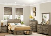 Sylvania Driftwood Platform Storage Bedroom Set from ...