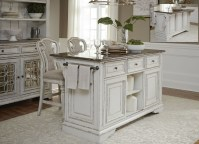 Magnolia Manor Antique White Kitchen Island Set from ...