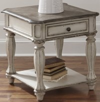 Magnolia Manor Antique White End Table from Liberty ...