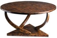 Pandhari Black Round Coffee Table, 25944, Uttermost