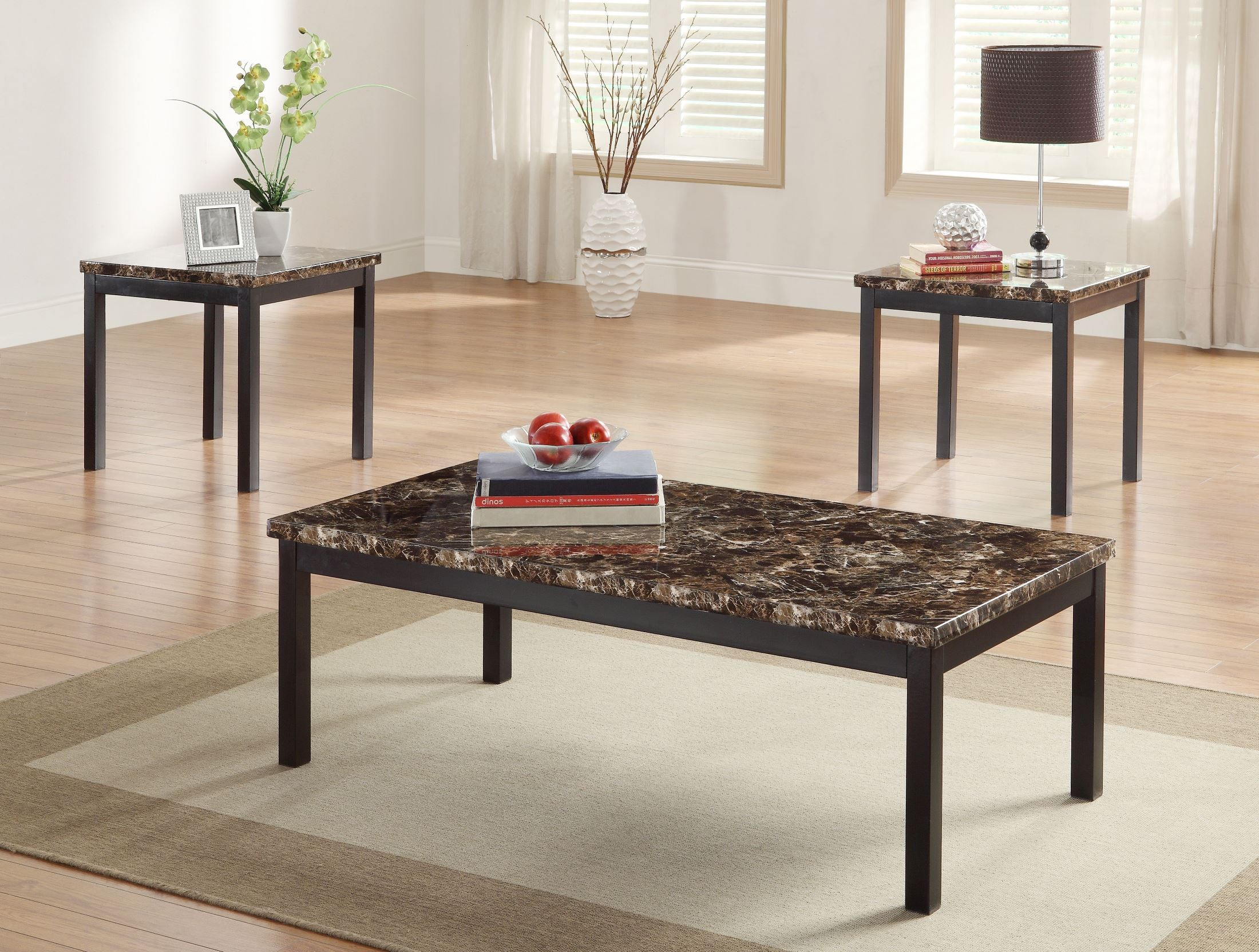 Tempe 3 Piece Occasional Table Set From Homelegance 2601