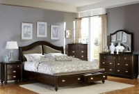 Marston Dark Cherry Platform Storage Bedroom Set from