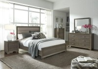 Hartly Gray Wash Youth Upholstered Panel Bedroom Set from ...