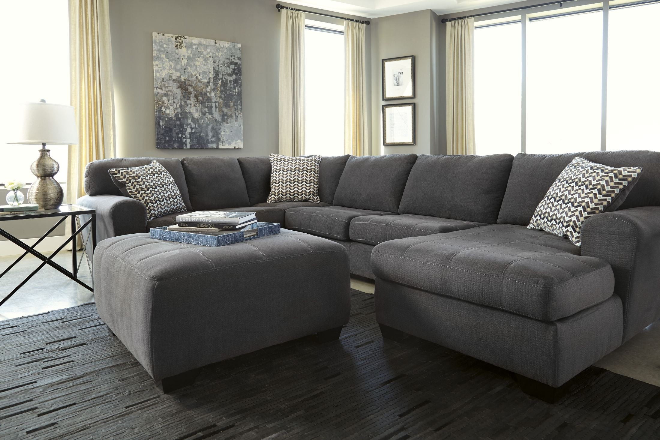 Chaise C Discount Sorenton Slate Raf Sectional From Ashley (2860017